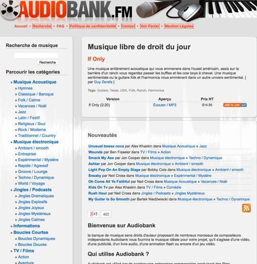 Acheter de la musique libre de droit