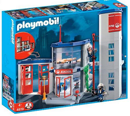 Playmobil 4819 caserne de pompier pas cher