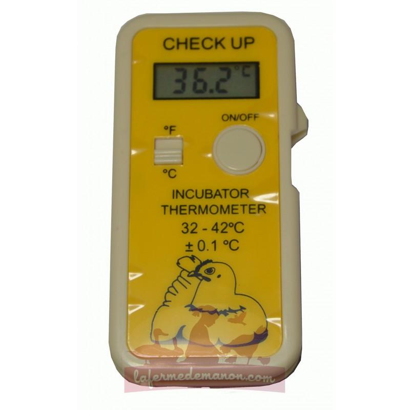 thermometre digital jaune avec sonde pour couveuse