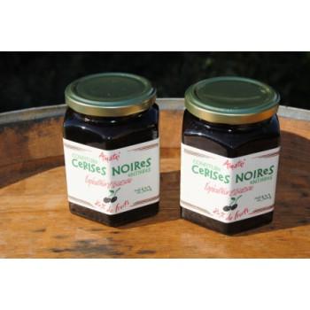 confiture cerise noire itxassou bocal 320 g