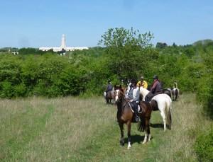 randonnée à cheval dans les champs de bataille