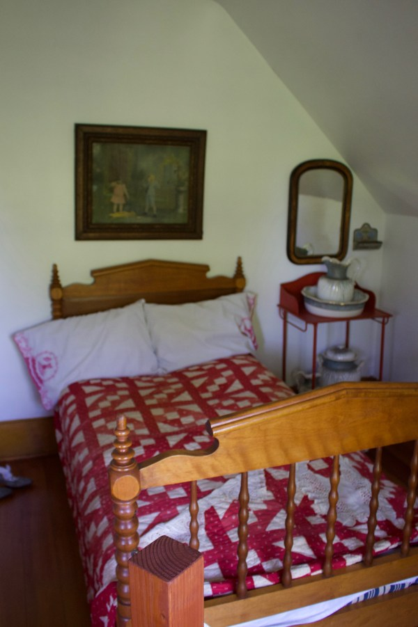 Bedroom at the Eagle Bluff Lighthouse