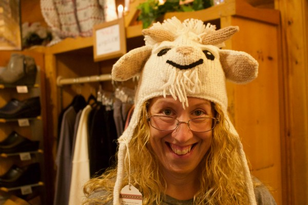 Christine and the Goat Hat