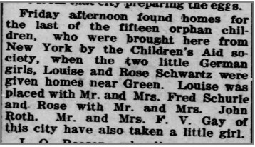 Orphan Train Article from The Times, 11/23/1911