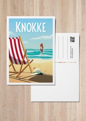 Carte Postale Belgique cote belge Knokke