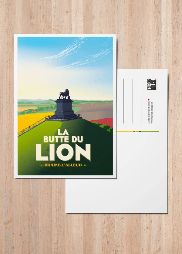 Affiche Belgique La Butte du Lion