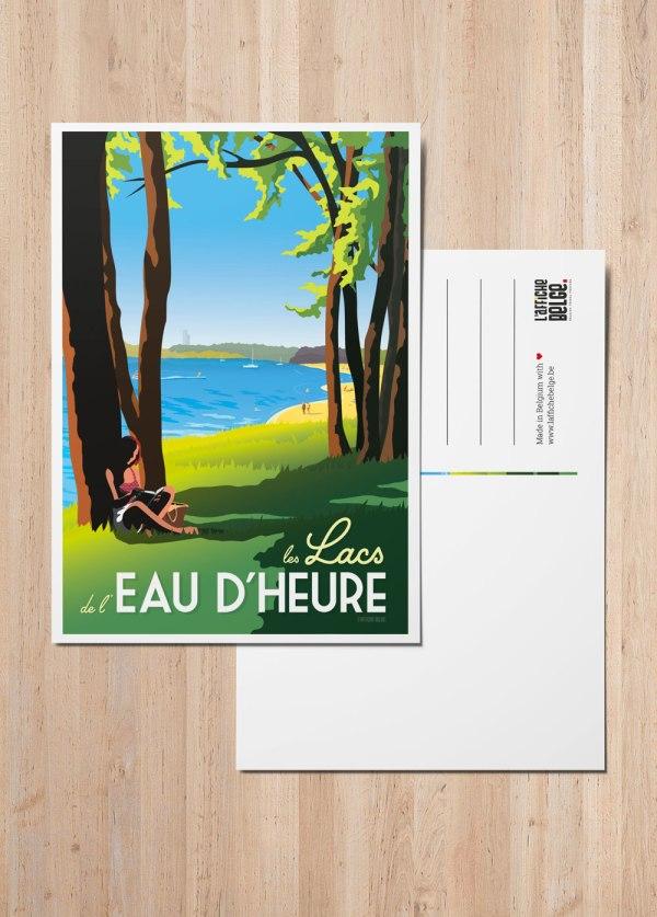 Carte Postale Belgique Les Lacs de l'Eau d'Heure