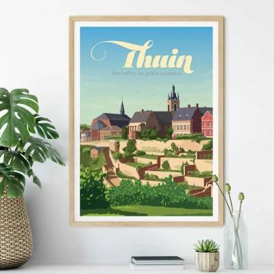 Affiche Thuin - Son beffroi et ses jardins suspendus