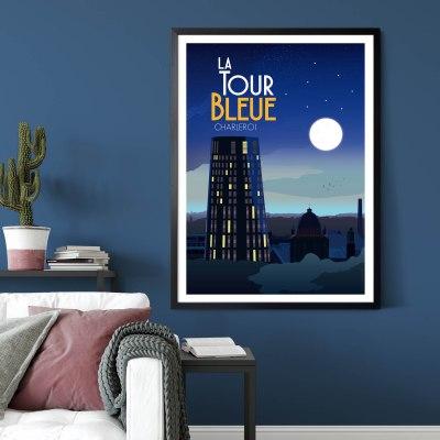 Affiche La Tour Bleue (Charleroi)