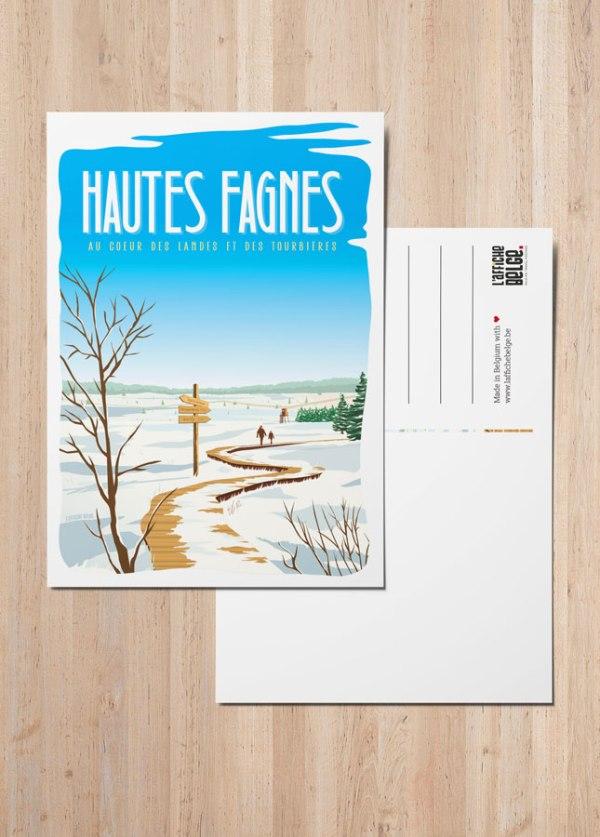 Carte Postale Les Hautes Fagnes