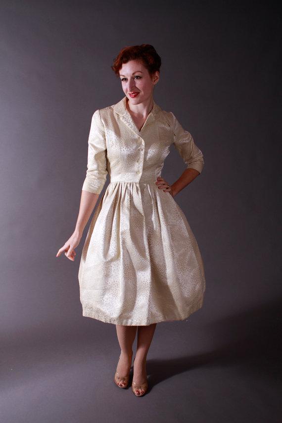 Robe de mariee vintage annees 50 courte - LaFianceeduPanda.com
