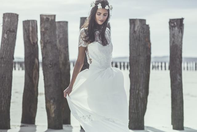 Laure de Sagazan robe de mariee couronne Camus robe Mallarme 2014 - LaFianceeduPanda.com