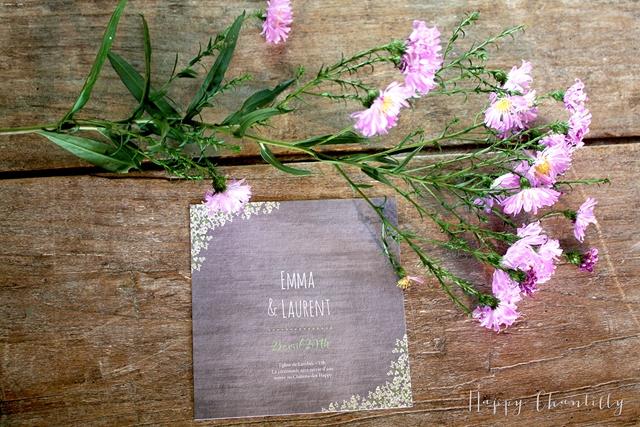 Faire-part ardoise craie Happy Chantilly Studio - LaFianceeduPanda.com