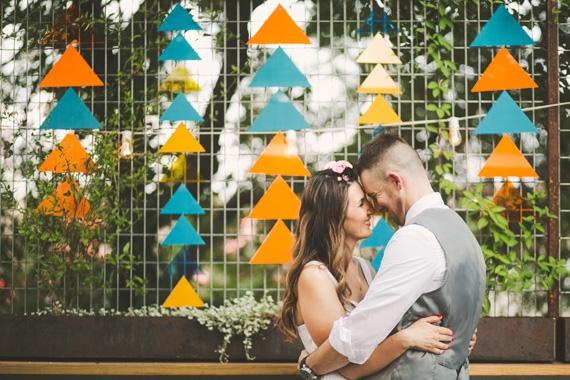 23 mariage colore geometrique - La Fiancee du Panda Blog mariage