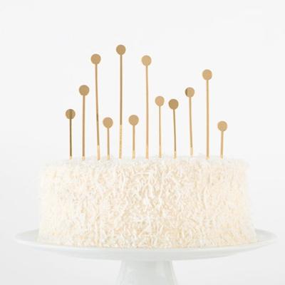 Cake topper dore glitter geometrique Etsy l La Fiancee du Panda blog mariage