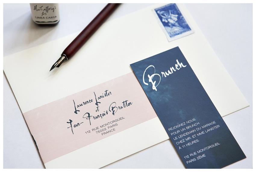 Faire part mariage moderne Mister M Studio - La Fiancee du Panda blog mariage