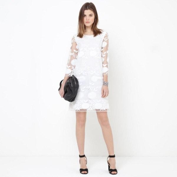 Robe dentelle blanche mariage pas chere l La Redoute Mademoiselle R l La Fiancee du Panda blog mariage