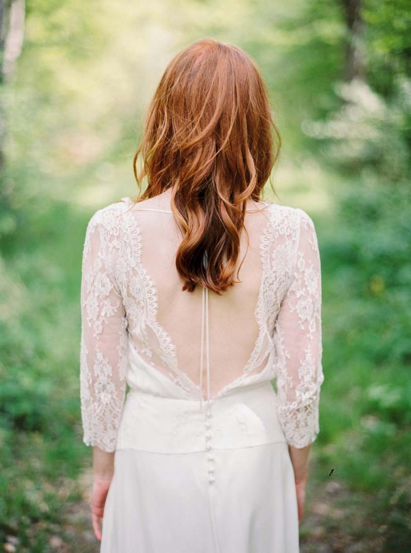 Robe de mariee dentelle dos nu boheme Stephanie Wolff Paris Ibanez collection 2016 l La Fiancee du Panda blog mariage