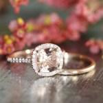 Bague de fiancailles morganite et diamants Etsy l La Fiancee du Panda blog mariage