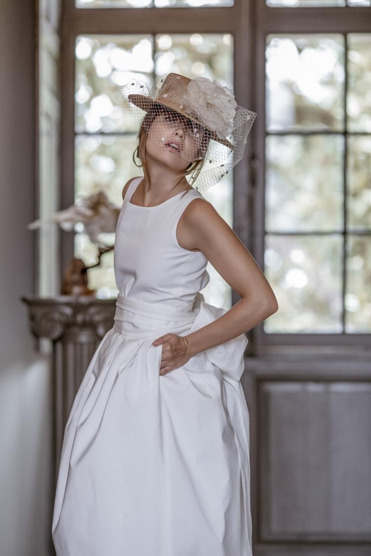 Robe de mariee sur mesure annees 50 modele Dame Blanche l Victoire Vermuelen l La Fiancee du Panda blog mariage-4