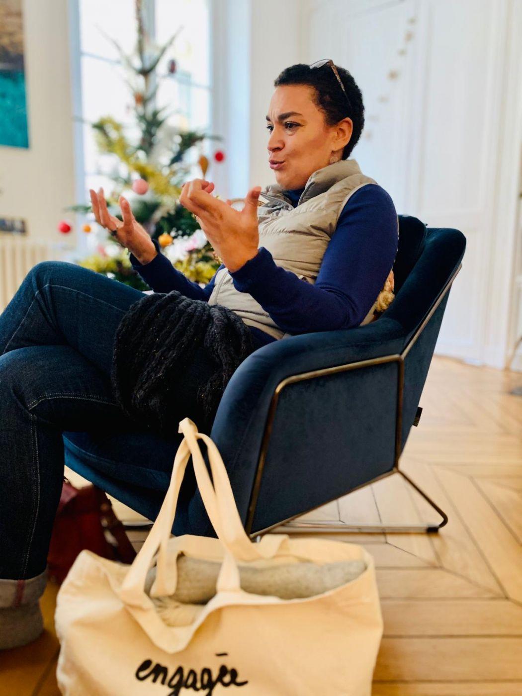 photo de Fabienne pendant le réseautage made in fabienne