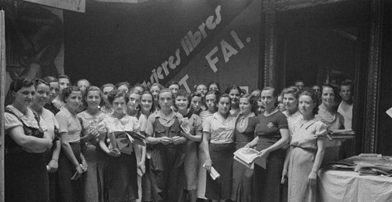 """Le """"Mujeres Libres"""" in una foto degli anni '40"""