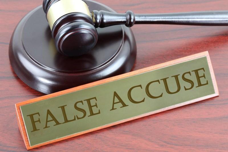 false accuse false denunce