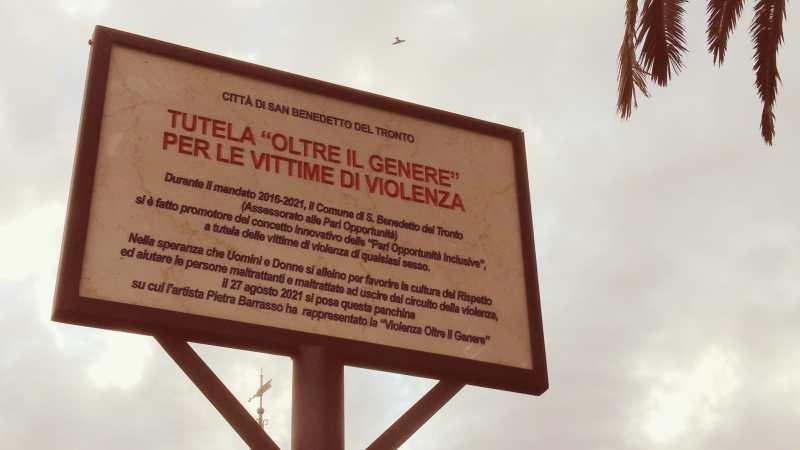 cartello san benedetto del tronto panchina