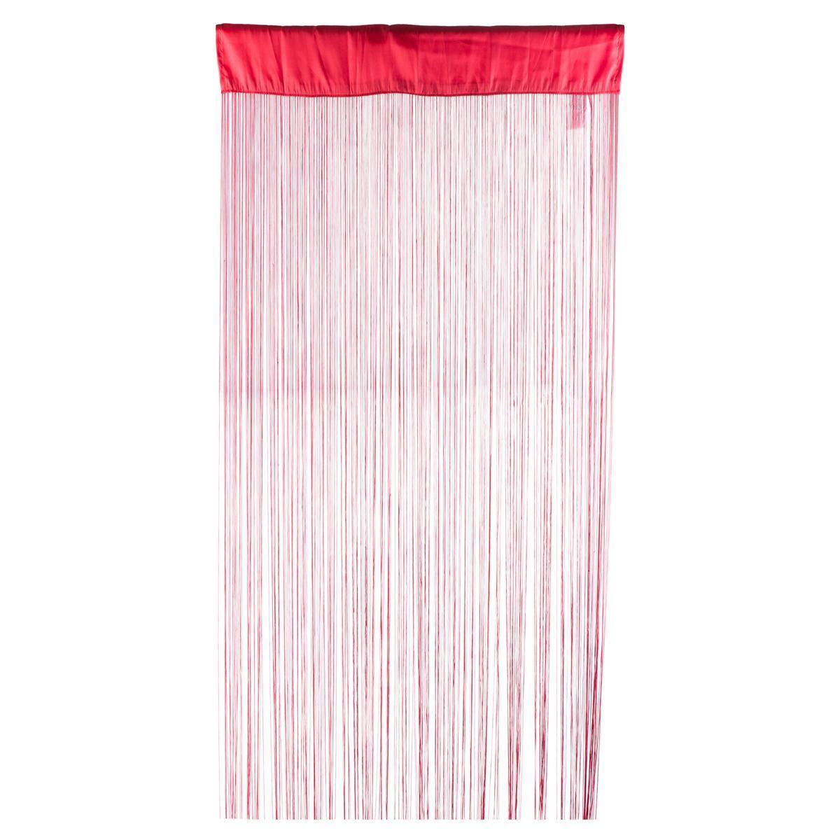 rideau fils 90 x 200 cm rouge