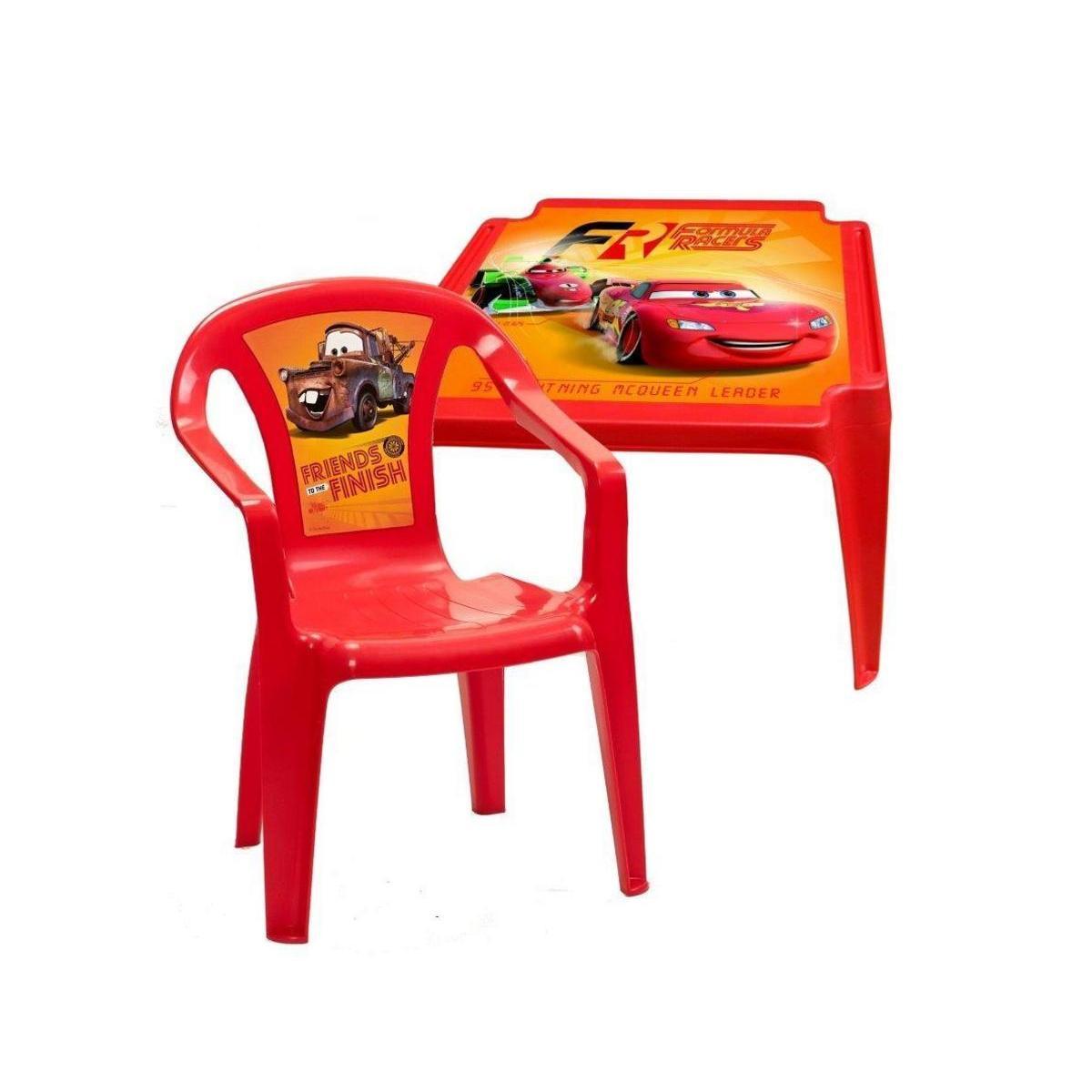 table enfant polypropylene rouge