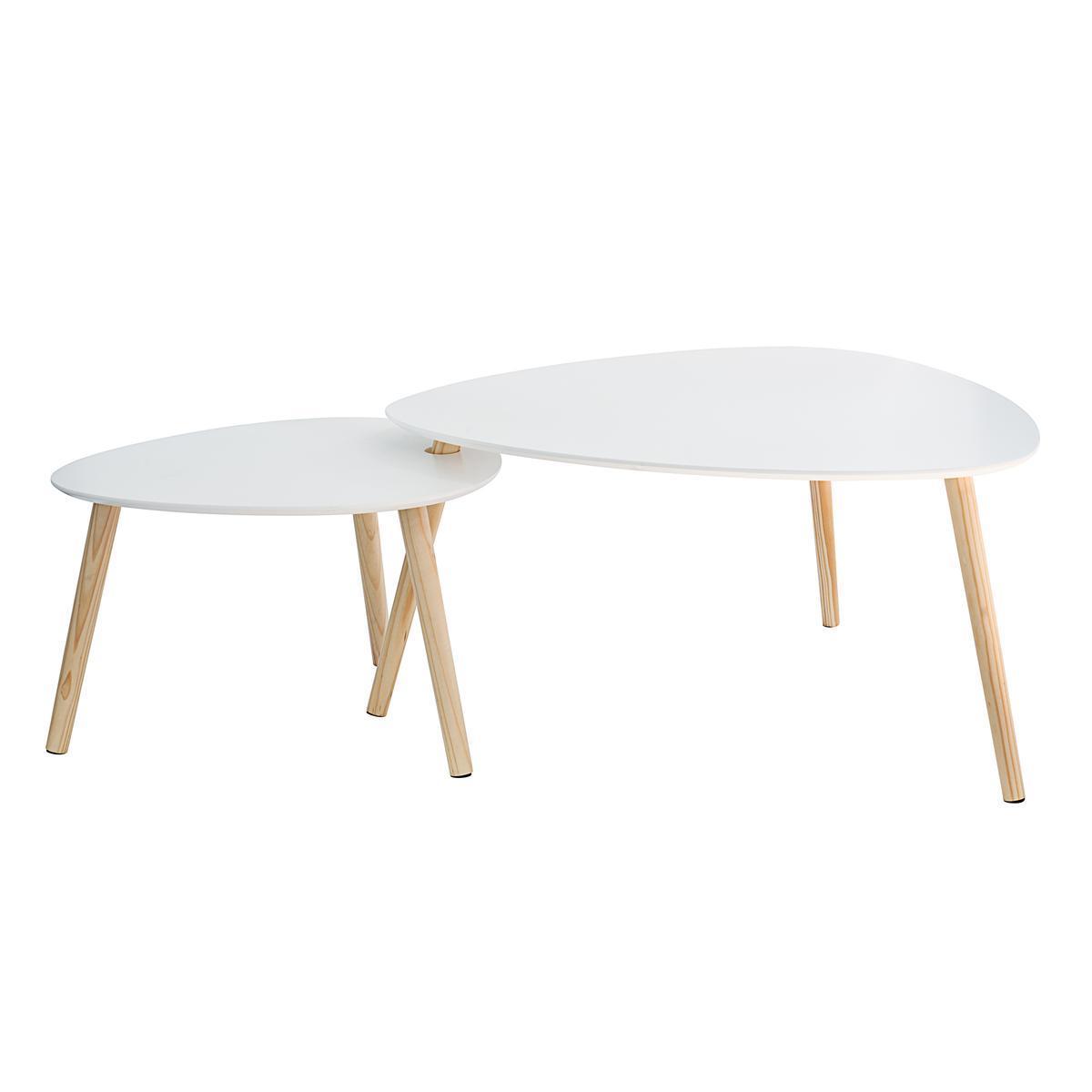 table gigogne ovale blanc meubles