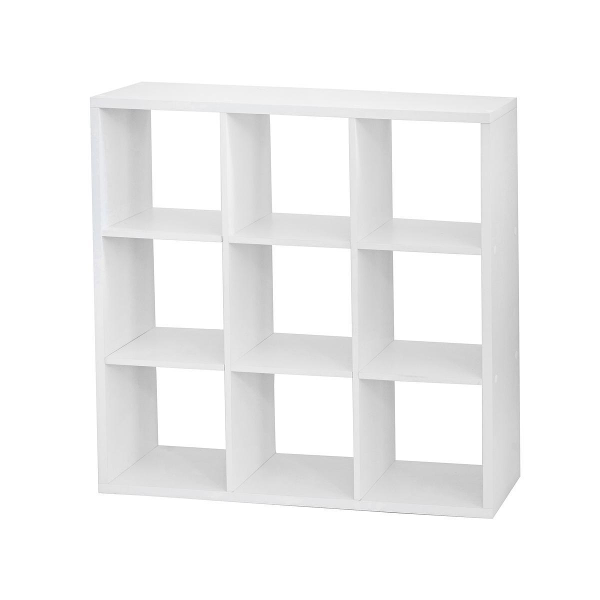 etagere cube 9 cases blanc meubles