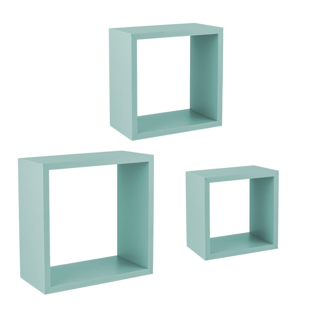 murales cubes bleu meubles de salon