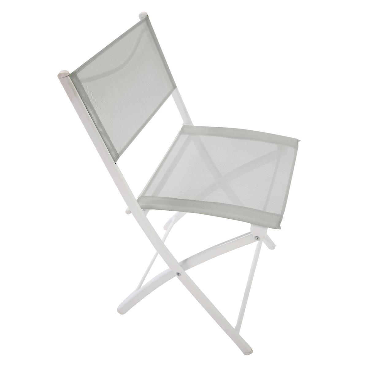 chaise pliante acier textilene
