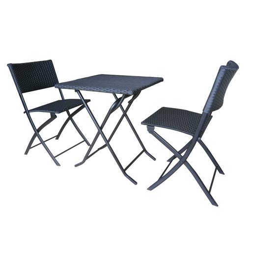 ensemble table 60 x 60 x h71 cm 2 chaises 55 x 45 x h