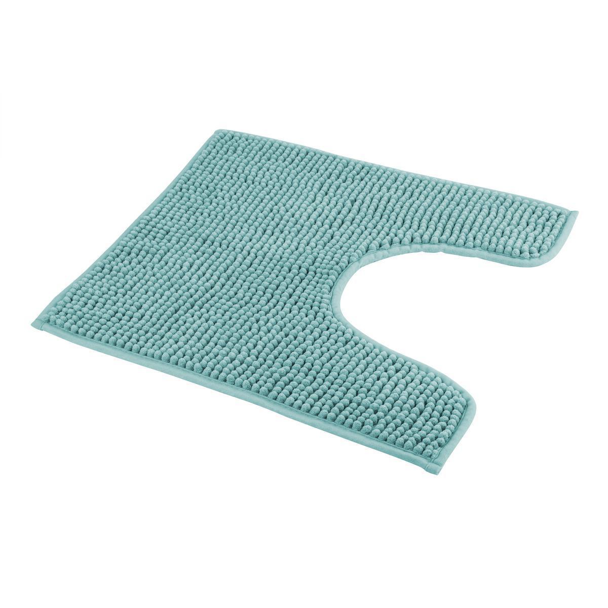 tapis contour wc bleu accessoires