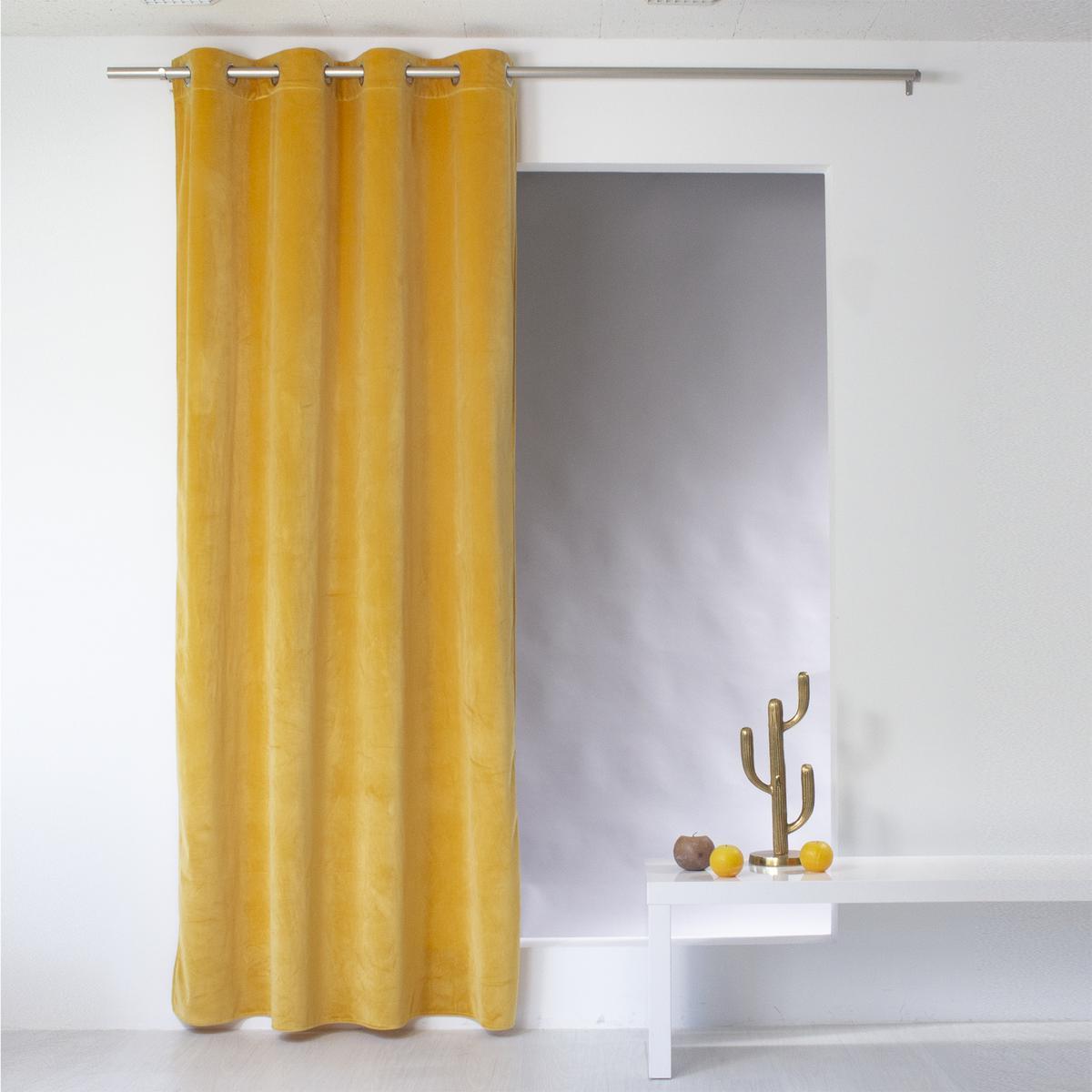rideau velours nounours 140 x 240 cm