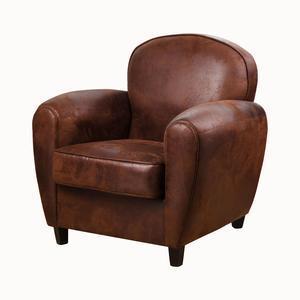 fauteuil club vintage marron