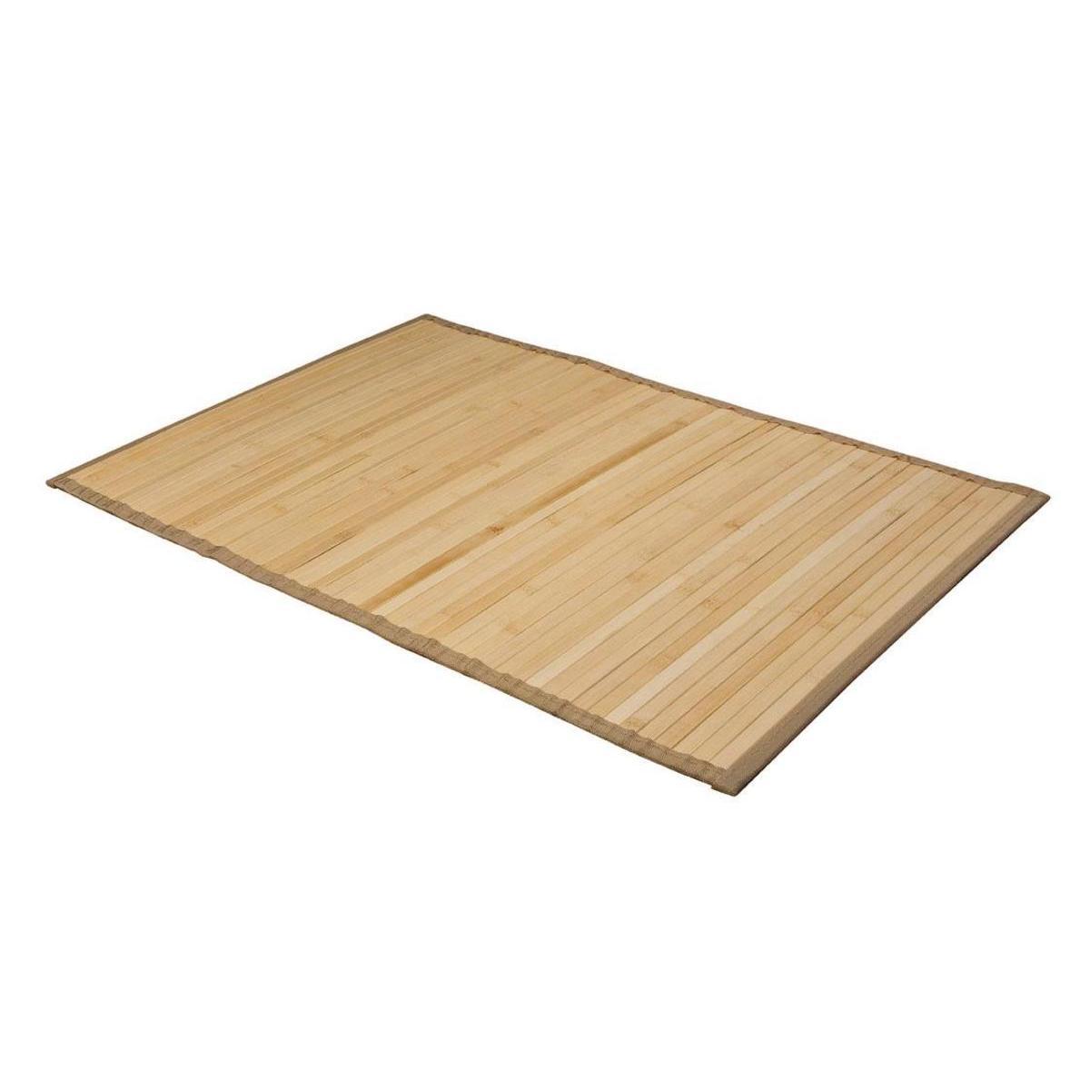 tapis de bain bambou marron