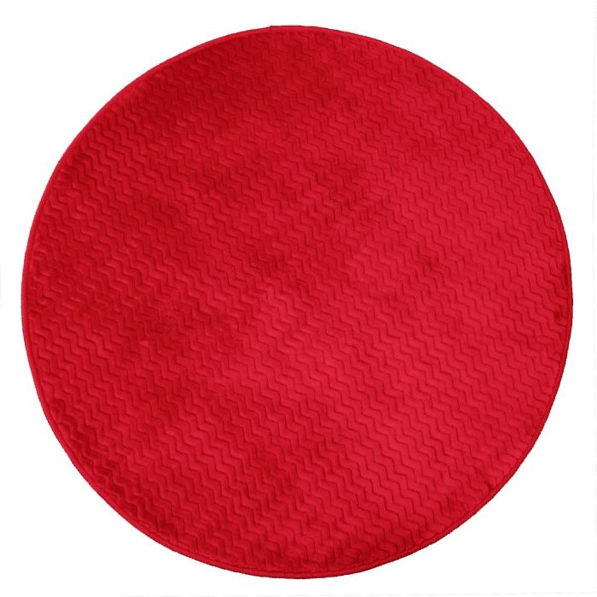 tapis rond zigga 90 cm rouge
