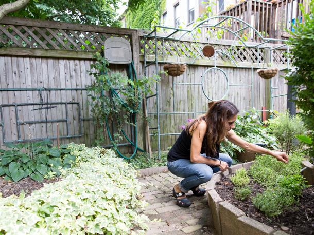 grace parisi in her garden