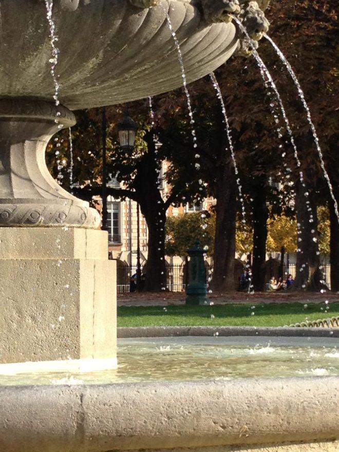 place des vosges fountain