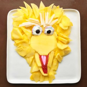 Harley Food Art Sesame Street bird