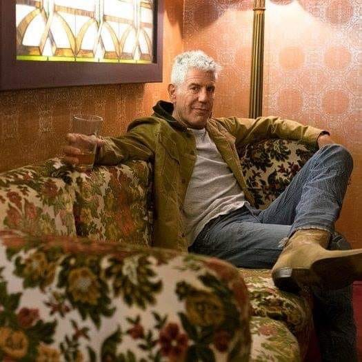Bourdain & his trade mark boots