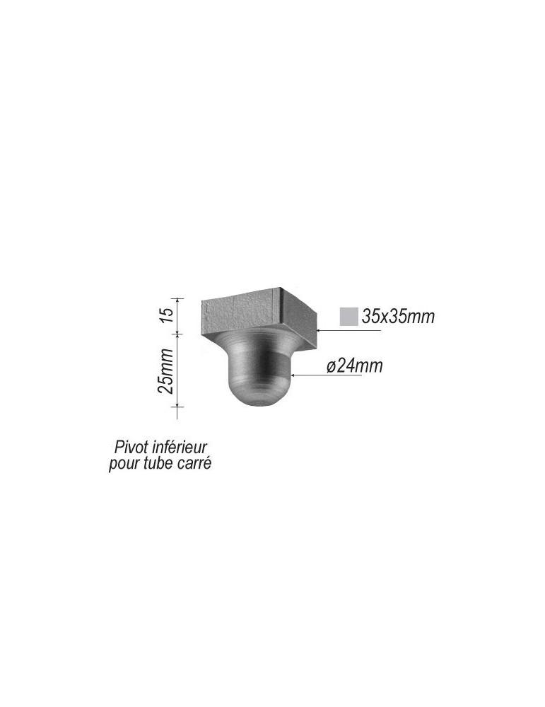 pivot inferieur pour portail largeur 35 hauteur 45 diametre 29 acie