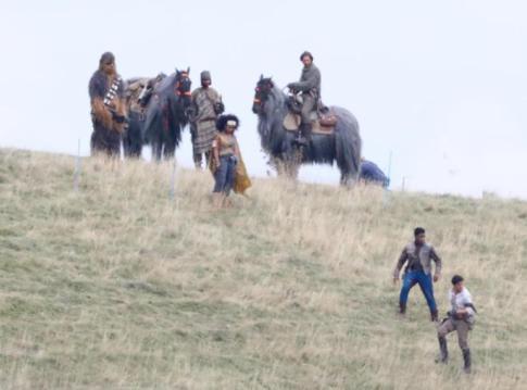 Episodio IX Poe, Finn, Chewbacca
