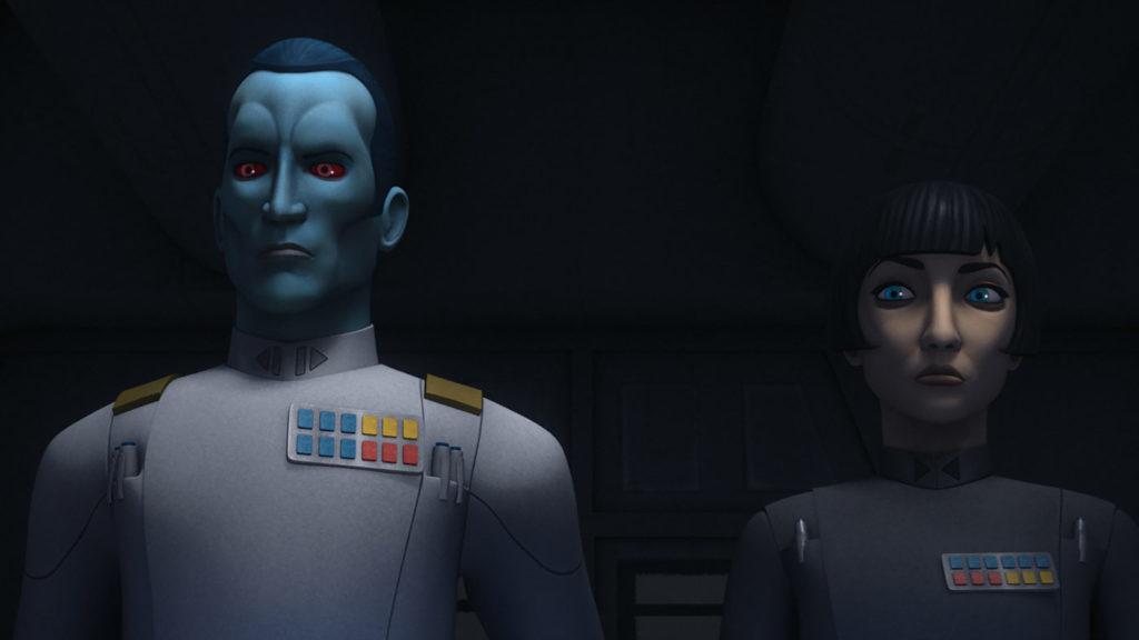 El Almirante Thrawn y la Gobernador Pryce