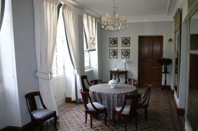 La salle à manger du château de La Fouquerie