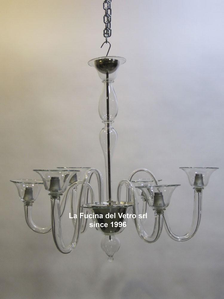 Lampade di murano le nostre opere nel mondo la fucina del vetro srl ad oggi produce splendidi lampadari in vetro soffiato di murano in stile classico e moderno, appliques, plafoniere, piantane,lampade e tutto ciò che concerne l'illuminazione. Lampadario In Vetro Di Murano Moderno Alternato Vendita On Line