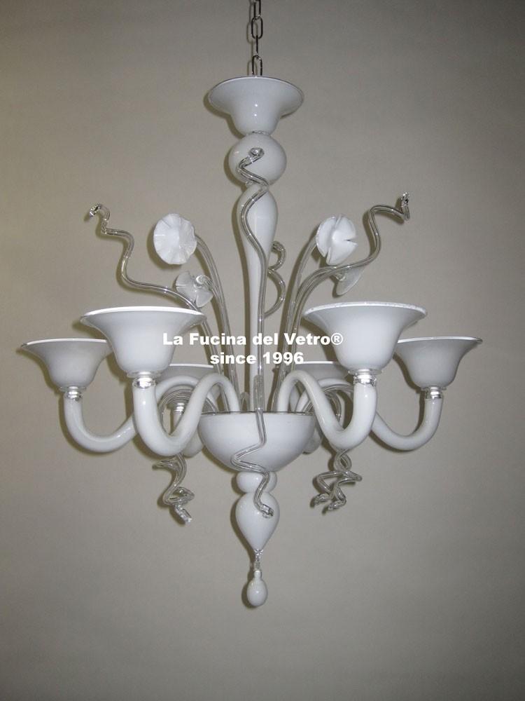 Home page · lampade a sospensione · lampade a soffito · lampade da parete · lampade da tavolo · lampadari toscani in legno · murano moderno · rivenditori. Lampadario In Vetro Di Murano Varigola Stilizzato Vendita On Line